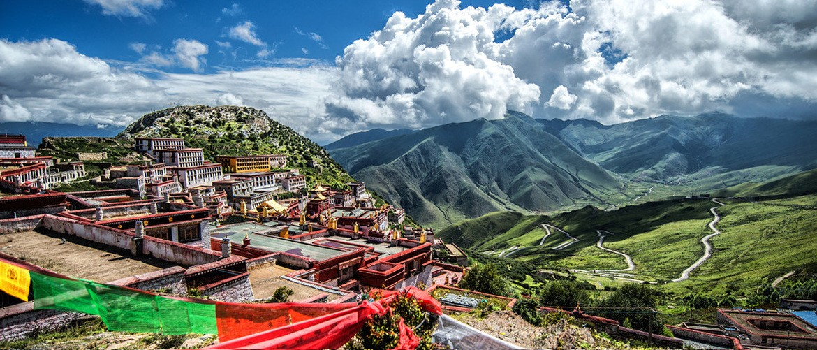 Ganden Monastery is the most important monastery of the Gelug in Tibetan Buddhism.