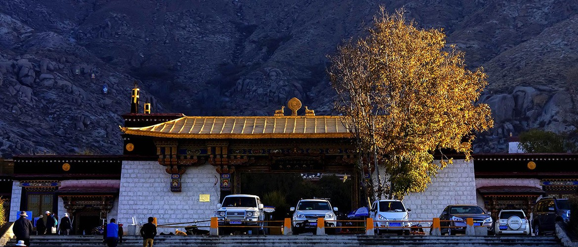 "Sera Monastery, one of the ""great three"" Gelug university monasteries of Tibet"