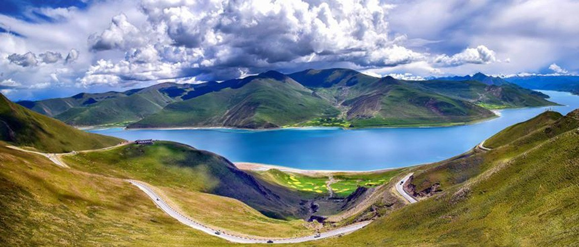 Yamdroktso is one of the three largest sacred lakes in Tibet