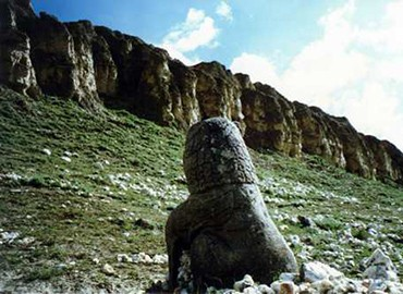 Only wild flowers and stone lions accompany those Tibetan kings of the past.