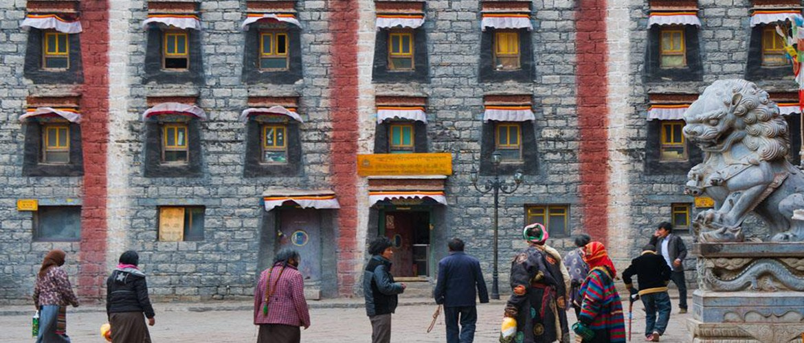 Sakya Monastery attracts lots of pilgrims to do a kora around it.