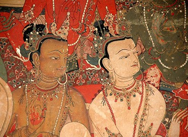 Exquisite murals at Shalu Monastery
