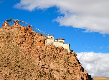 Chiu Monastery is located on the west bank of the holy lake, Manasarovar, Ngari region, Tibet.