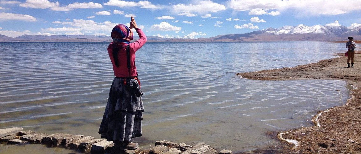Lake Manasarovar is a sacred pilgrimage destination. It is said that a dip in the sacred waters of Manasarover can wipe off your sins from the last 7 births.