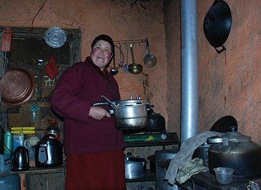 The life of nuns in Tidrum Nunnery is simple and unadorned.