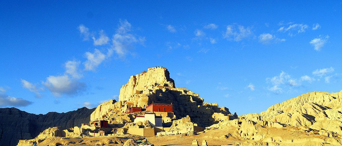Guge was an ancient kingdom founded in the 10th century in Western Tibet. It covers an area of about 180,000 square meters.