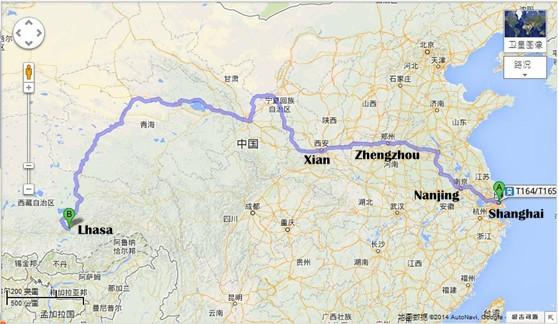 Shanghai Lhasa Train Tour