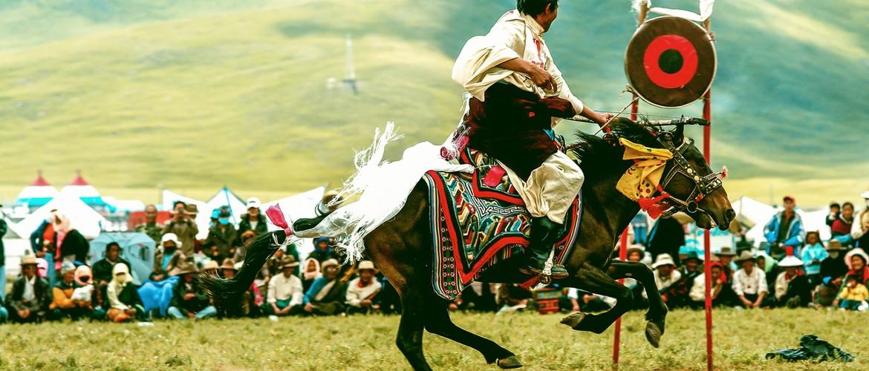 Archery on horseback