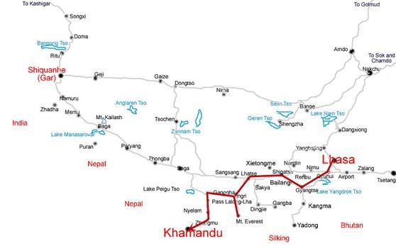 Chengdu Tibet Nepal Overland Train Travel