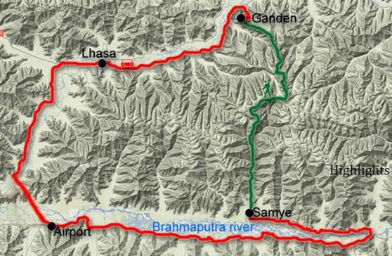 Ganden to Samye Tibet Trekking Tour