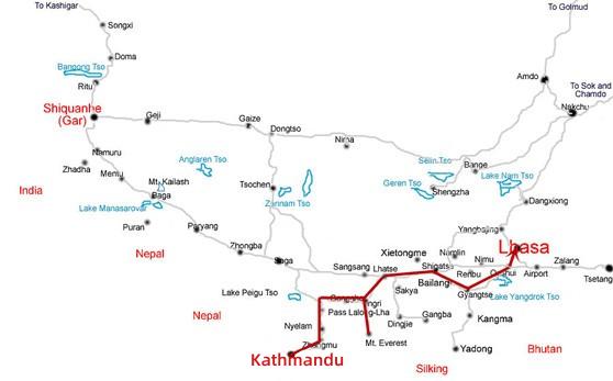 Kathmandu Mt Everest Lhasa Overland Tour