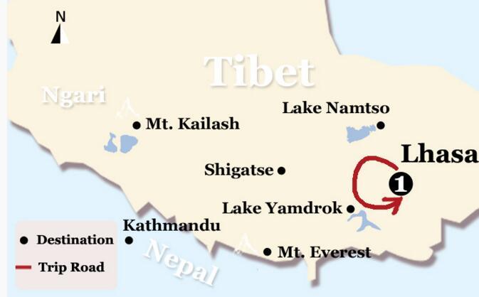 Lhasa-City-Culture-Tour-Map