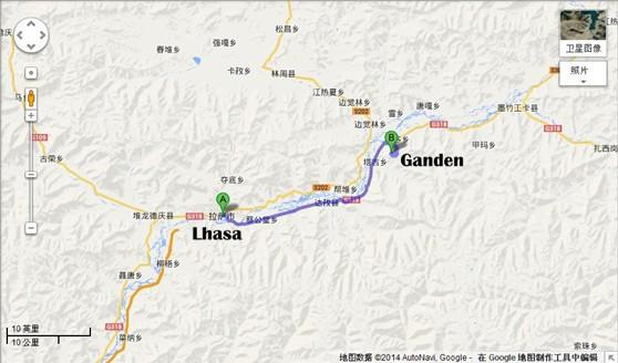Lhasa-Ganden-Monastery-Tour-Map