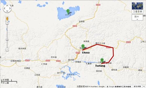 Lhasa-Tsetang-Yarlung-Valley-Tour-map