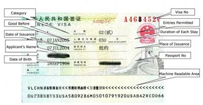 China Visa.