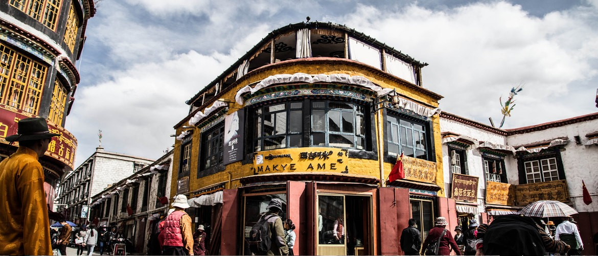 Along Barkhor Street, you can see many tea houses and snack stores. Don't miss the opportunity to taste Tibetan traditional snack.
