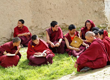 Drepung Monastery was the largest monastery in Tibet, with over 10,000 monks. Now, this monastery houses about 700 monks.