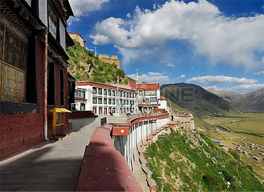 The whole monastery faces south.