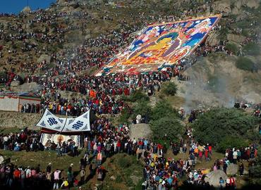 Shorton festival is a big festival in Lhasa area.