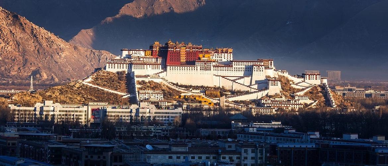 Majestic Potala Palace,  the landmark of Lhasa city