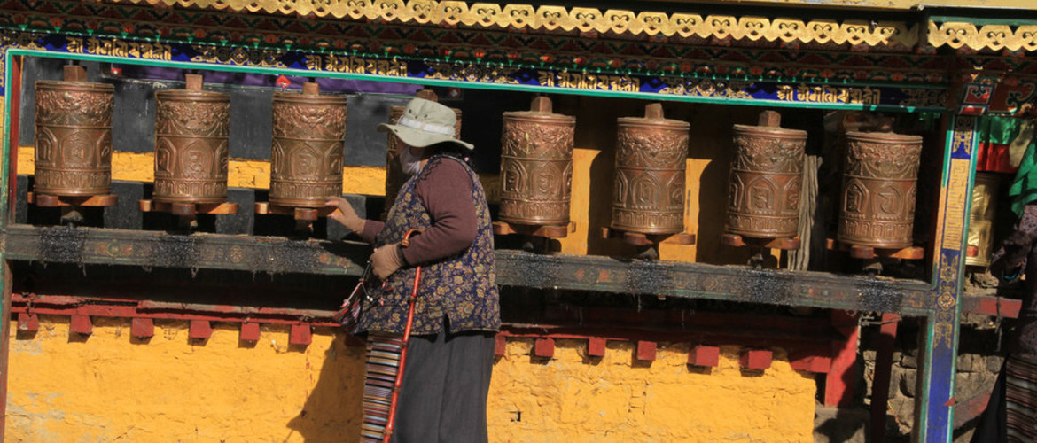 You will find pilgrim everywhere in Tibet, especailly around the old town.