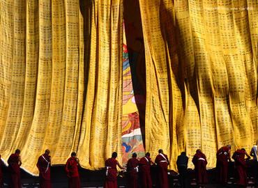 Ganden Thangka Showing Festival 5