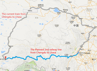 A 2nd Railway from Chengdu to Lhasa is Underway