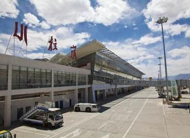Appearance of Gonggar airport, Lhasa.