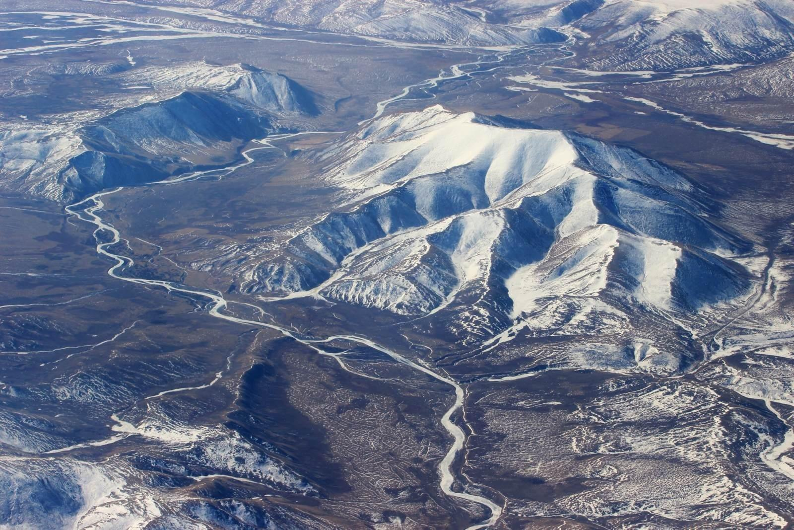 Bird's-eye view of the roads in Tibet.