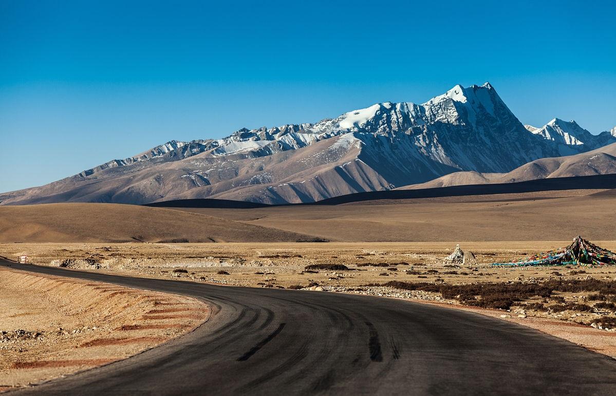 Overland tour in Tibet.