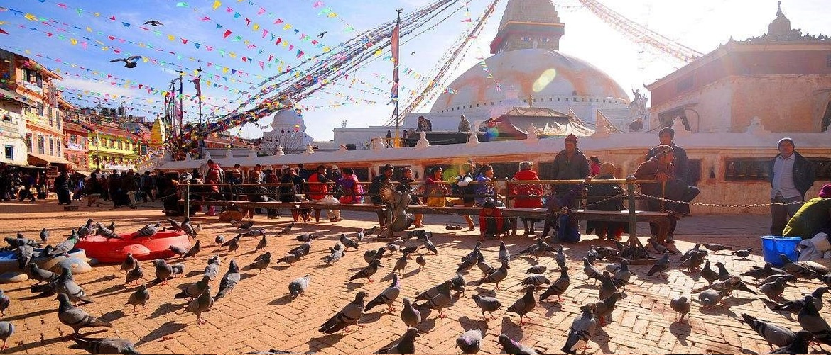 The Boudhanath Stupa's massive mandala makes it one of the largest spherical stupas in Nepal.