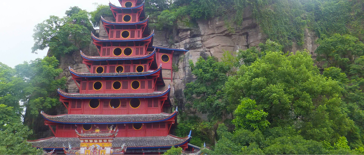 Shibaozhai Pagoda is the highest wooden pagoda exists today