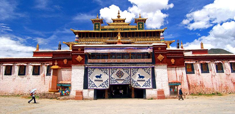 Samye Monastery was built according to the Buddhist cosmology.