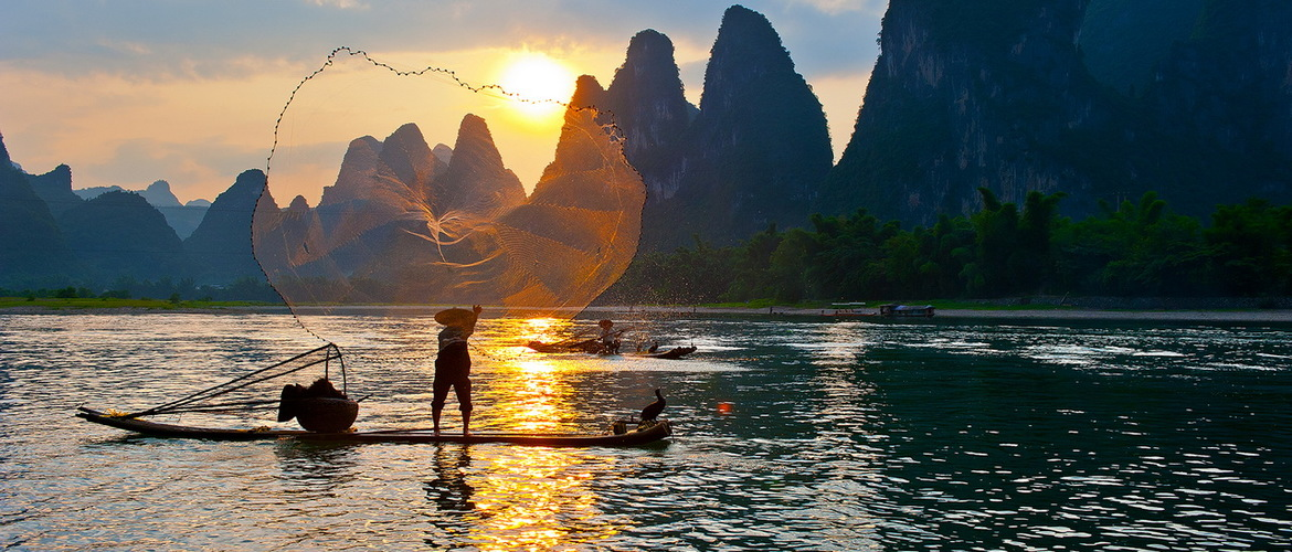 The scenery of Guilin is well - known at home and abroad for thousands.