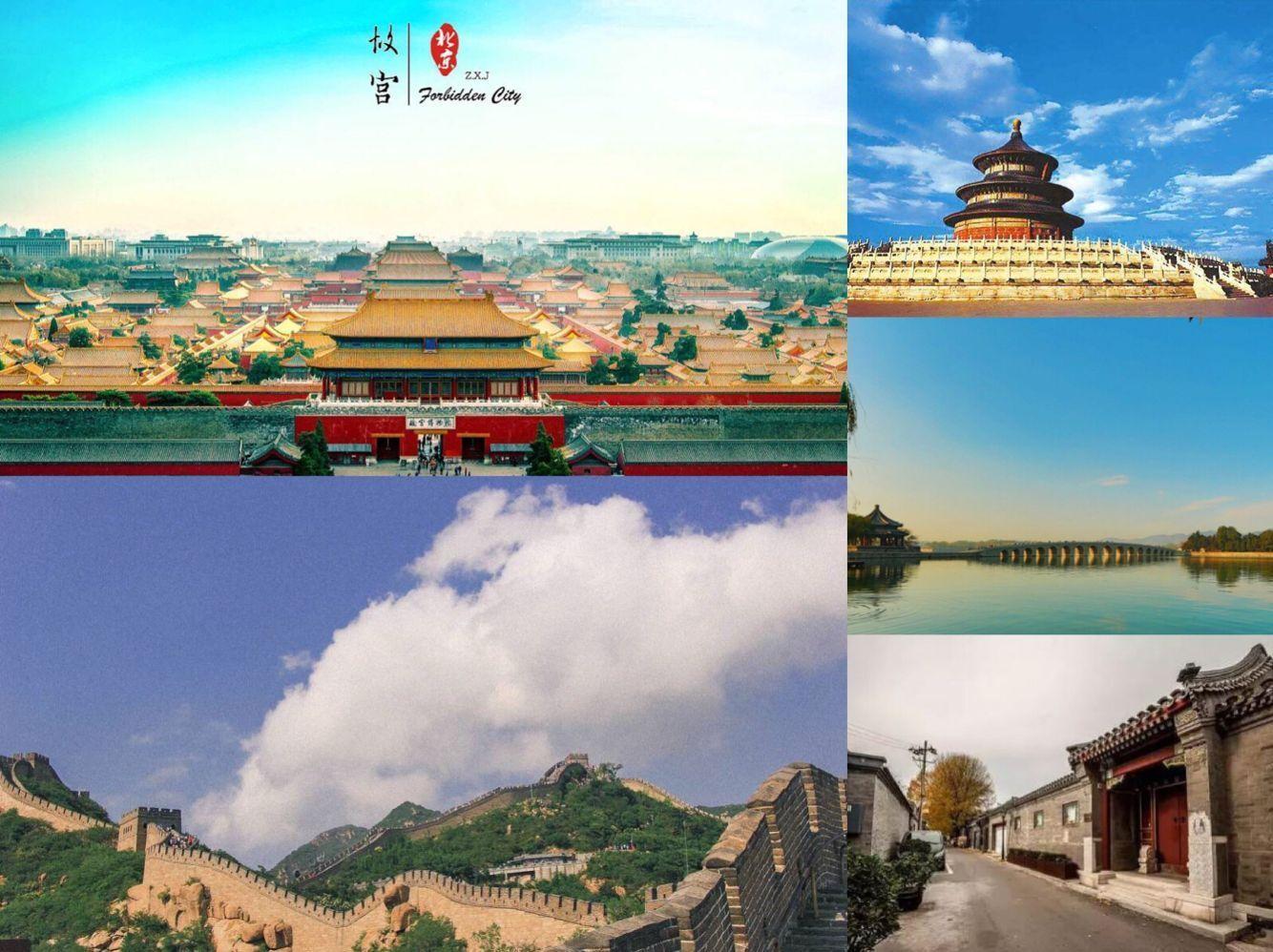 Famous attractions in Beijing.