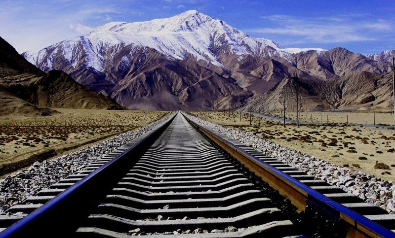 Amazing scenery of Qinghai-Tibet railway.