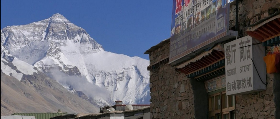 There's a restaurant and store at Rongbuk Hotel