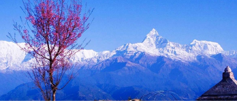 Nagarkot Village, amazing scenery of Himalaya mountains