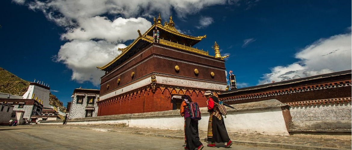 Outside of Tashilhunpo Monastery. You will see more local Tibetan people at Shigates.