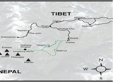 Tibet Trekking Map
