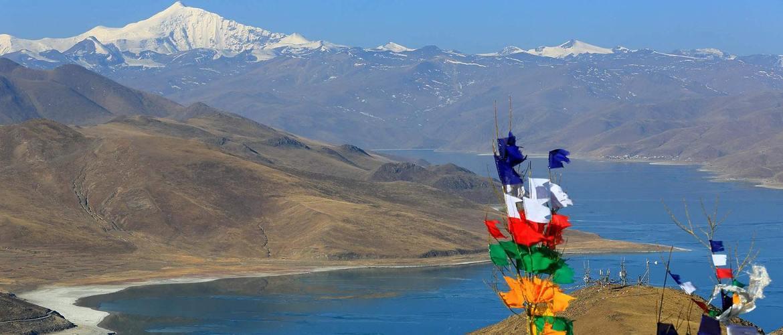 Yamdroktso Lake the closest holy lake near Lhasa.