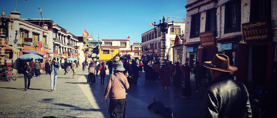 Barkhor Street is a famous circumambulation road in Tibet.