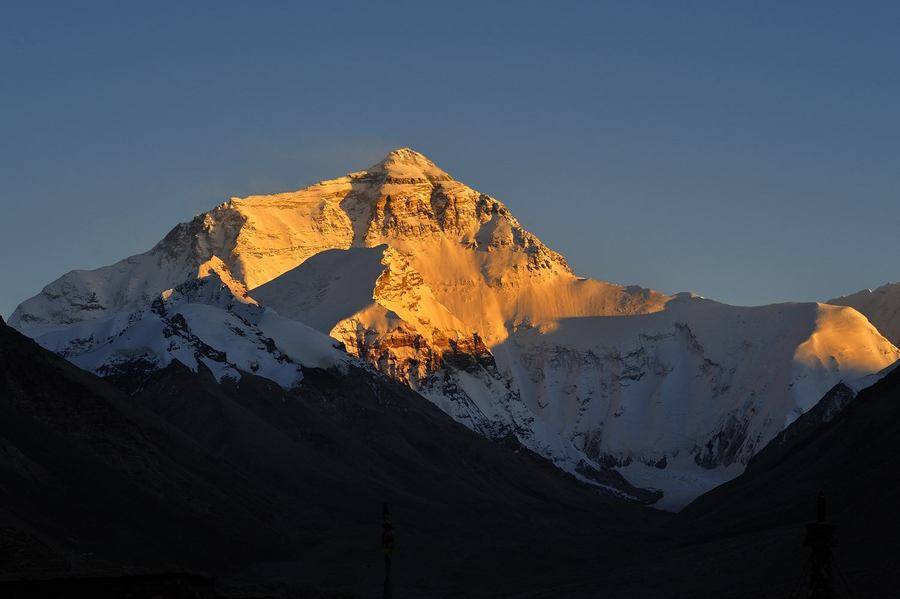 The golden summit of Mt. Everest