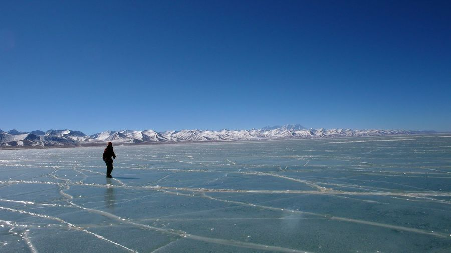 Most lakes in Tibet will get frozen in Feb like Namtso.
