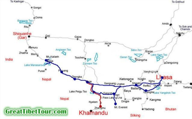 Lhasa Mt Everest & Mt Kailash Kathmandu Group Tour