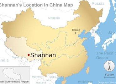 Lhoka in China map.