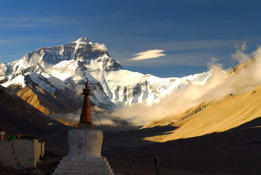 May is also a good month to view the golden summit of Mt. Everest clearly.