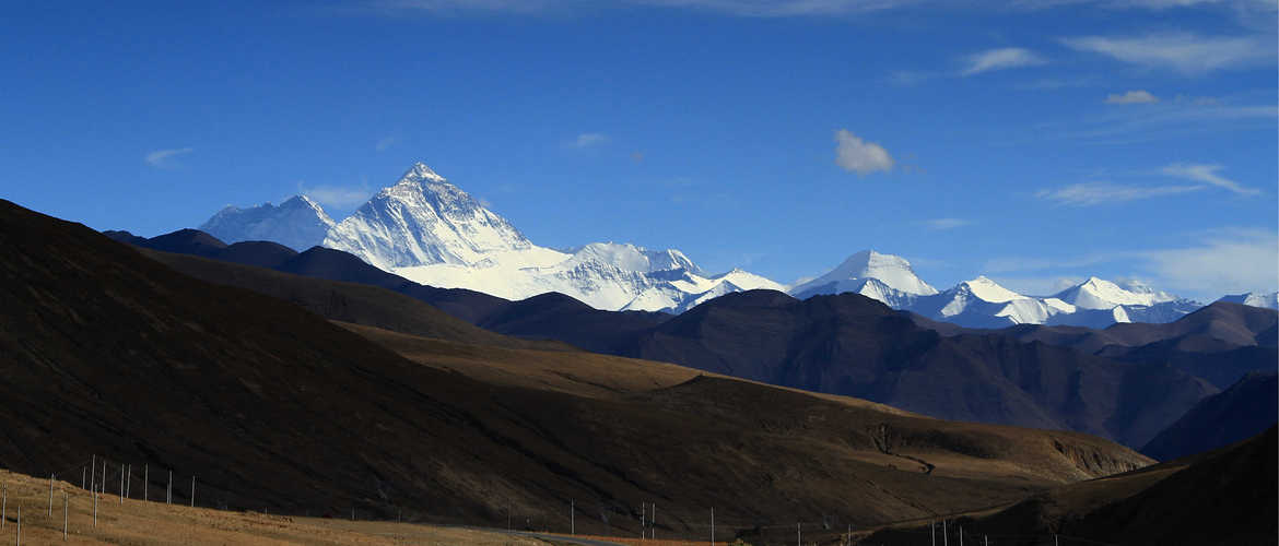 When you first overlook Mt. Everest on the way from Tingri to EBC, how can't you be excited?