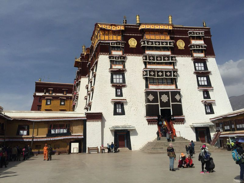 Entrance of Potala Palace.