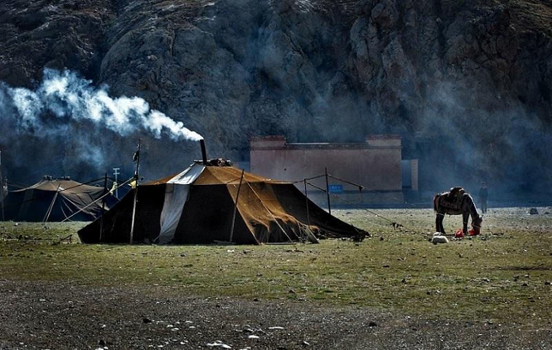 Tibetan normad tent.